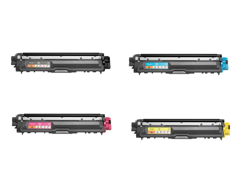 brother dcp 9020cdw toner cartridges set black cyan magenta yellow. Black Bedroom Furniture Sets. Home Design Ideas