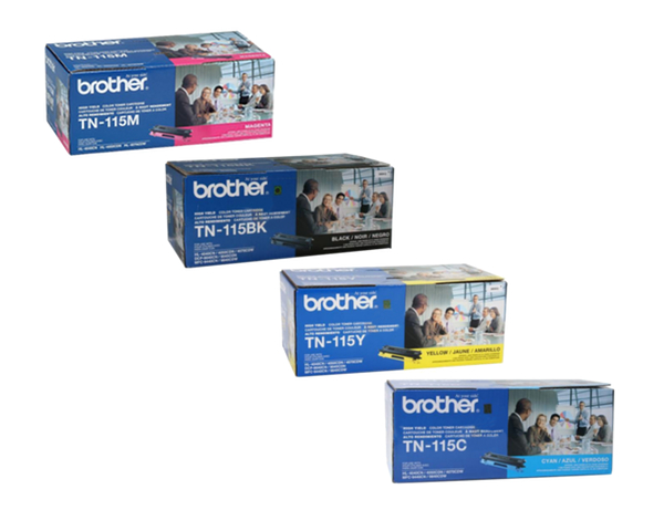 brother mfc 9450cdn toner black cyan magenta yellow cartridges. Black Bedroom Furniture Sets. Home Design Ideas