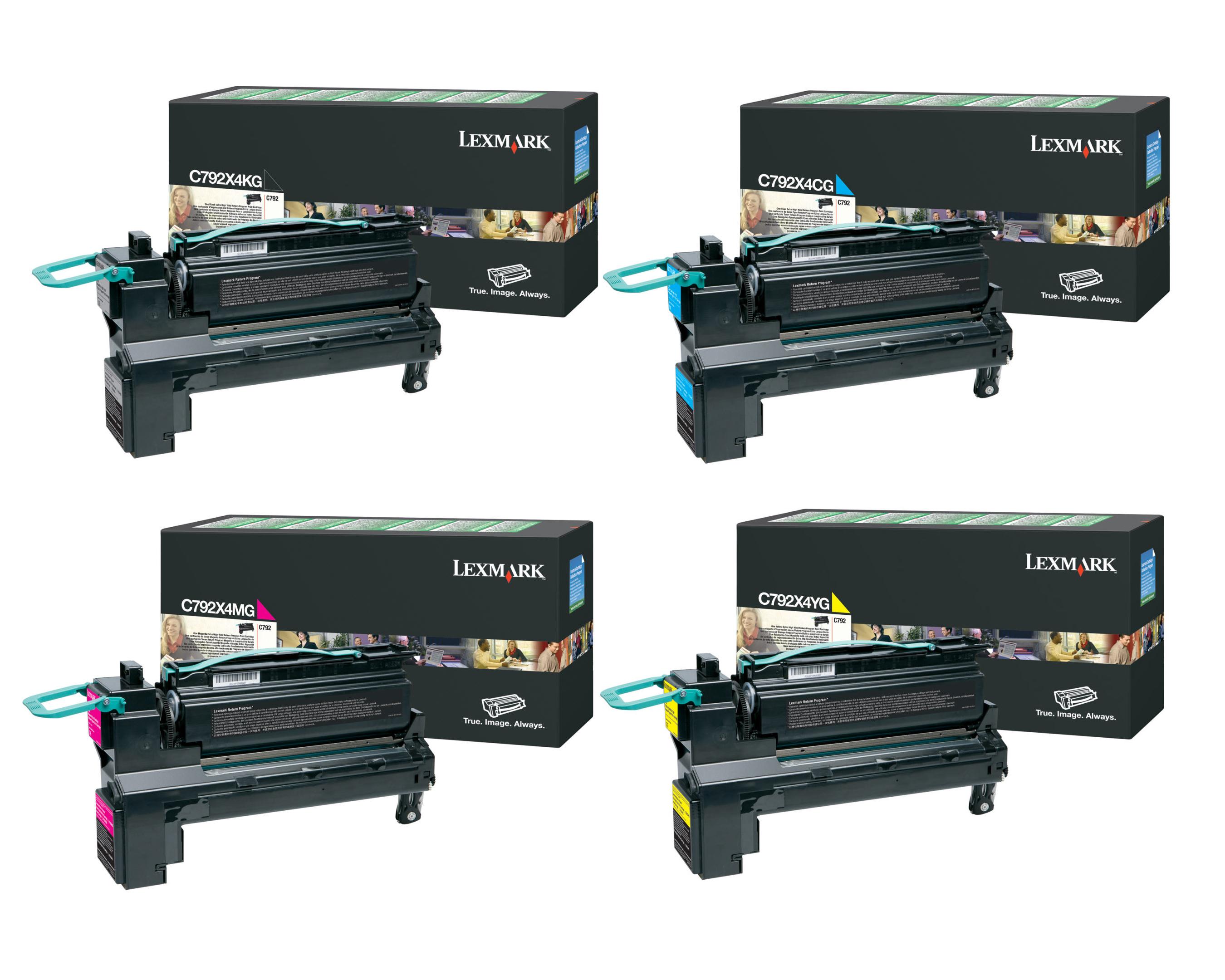 lexmark part c792x4kg c792x4cg c792x4mg c792x4yg toner. Black Bedroom Furniture Sets. Home Design Ideas