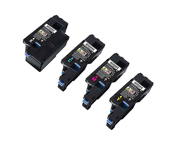 dell c1660w toner cartridge set oem black cyan magenta. Black Bedroom Furniture Sets. Home Design Ideas