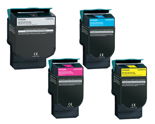 lexmark x544 toner cartridge set