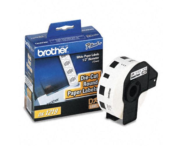 brother ql 570 round paper labels oem 1 200 labels quikship toner. Black Bedroom Furniture Sets. Home Design Ideas