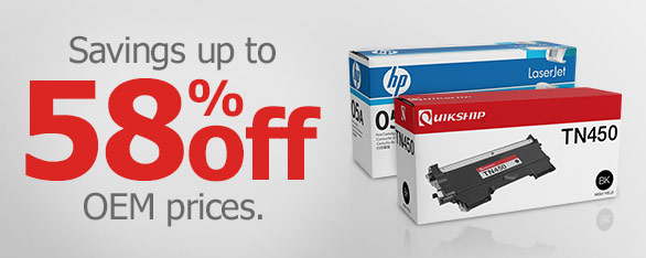 Savings up to 58% off OEM prices!