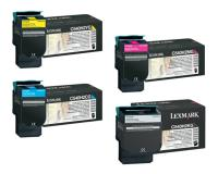 Lexmark C540 OEM Toner Cartridge Set - Black, Cyan, Magenta, Yellow