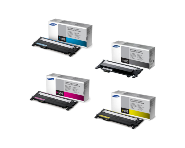 samsung clx 3305 toner cartridge set black cyan. Black Bedroom Furniture Sets. Home Design Ideas