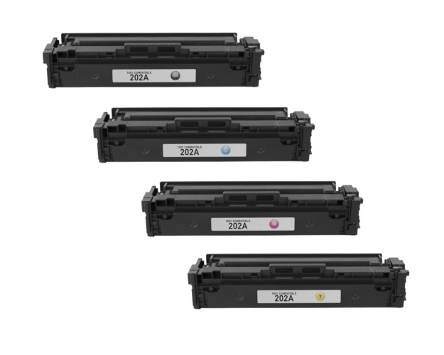 High Capacity Imaging Toner Cartridge use for HP Laserjet Pro MFP M281dw Compatible 202A 2BK+C+Y+M MFP M281cdw Printer 5-Pack CF500A CF501A CF502A CF503A