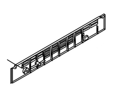 HP Color LaserJet 4550hdn Lower Rear Cover (OEM
