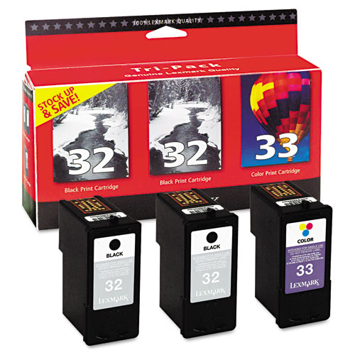 Lexmark X2350 2 Black And 1 Color Ink Cartridge Combo Pack OEM
